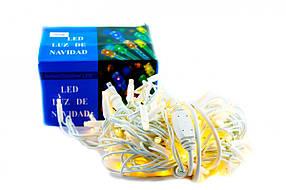 Xmas гірлянда LED 3.3 Line 100 WW Теплий білий 10 Метрів Вулична+соед.Білий (20)