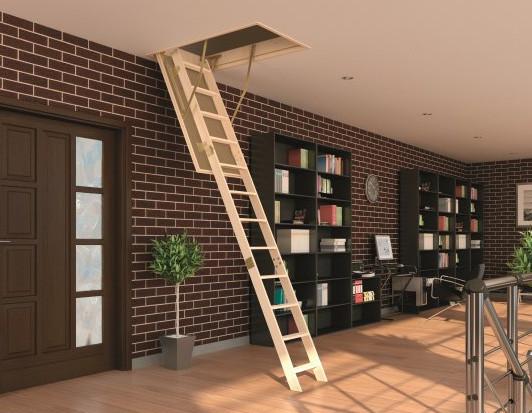 Чердачная лестница (с люком) деревянная