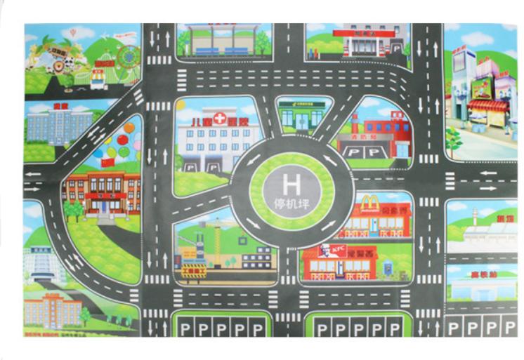 Дитячий ігровий килимок з автомобільною дорогою 83х58 див. Спанбонд (36053)