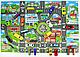 Дитячий ігровий килимок з автомобільною дорогою 83х58 див. Спанбонд (36053), фото 2