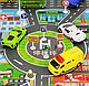Дитячий ігровий килимок з автомобільною дорогою 83х58 див. Спанбонд (36053), фото 3