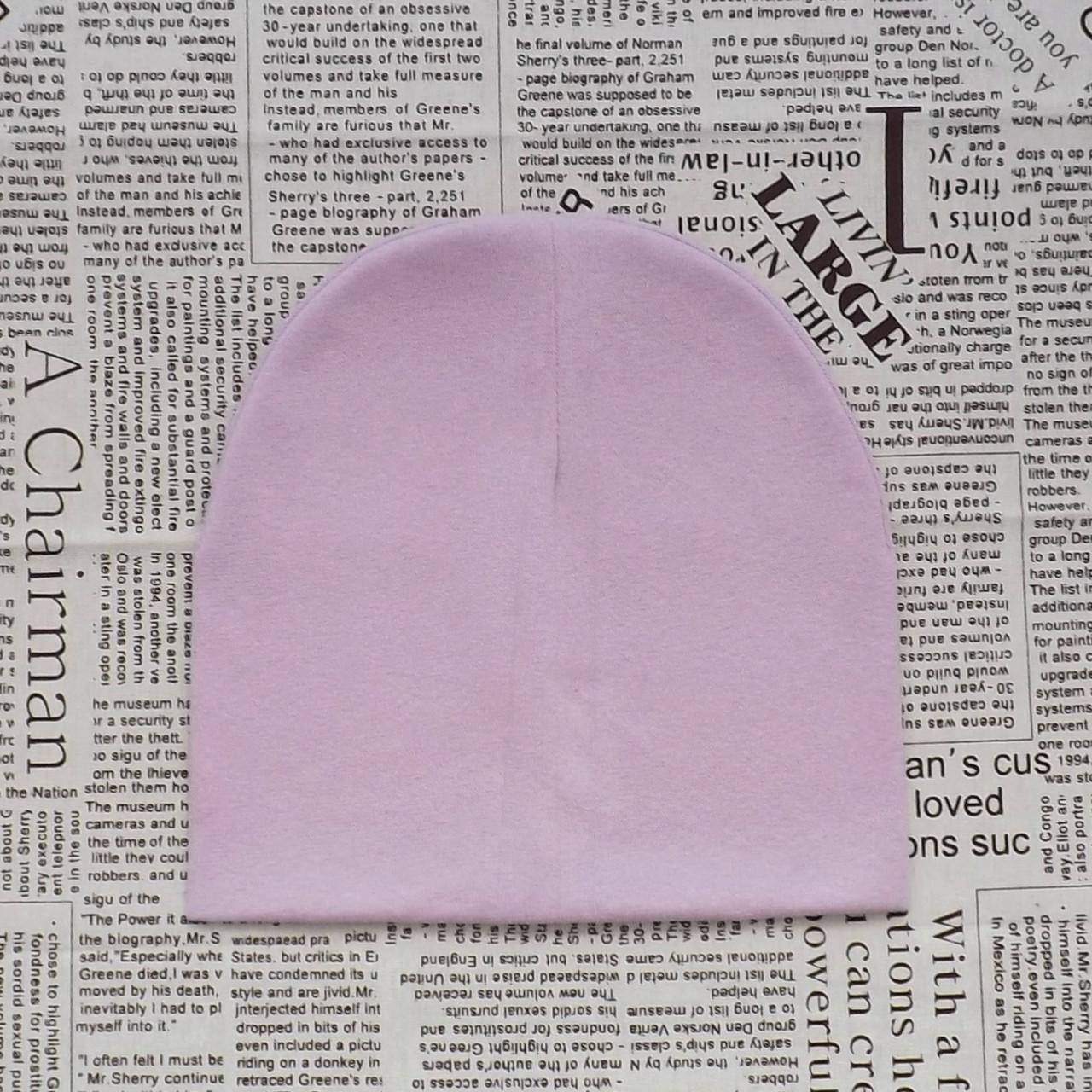 Демисезонная шапка детская 4-12 лет Сиреневый (07626)