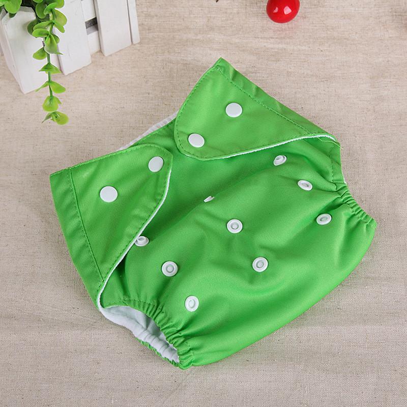 Багаторазові підгузники однотонні з сіткою Qianquhui зелений
