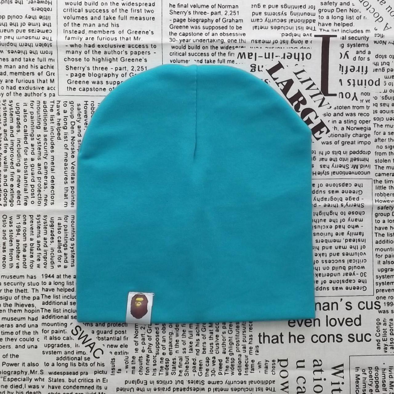 Варі Kids шапка однотонна демісезонна Темно-м'ятний (07224)