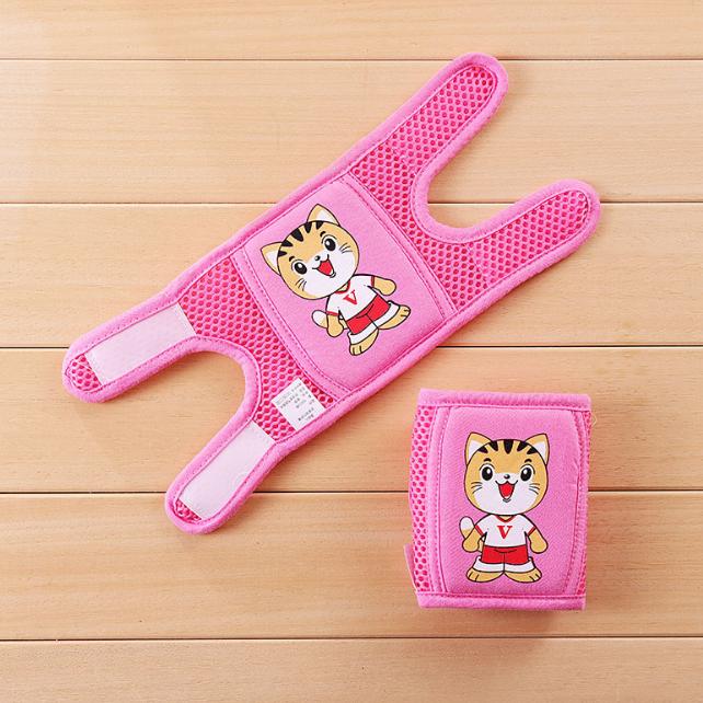 Наколенники детские в сеточку Котята Розовый (01257)