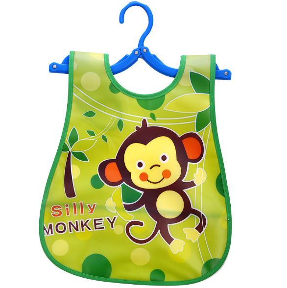 Слюнявчик фартук с ковшом для еды на липучке Silly monkey (02146)