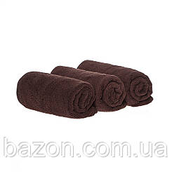 Набір спортивних рушників 35*75см, 300гр/м2 ( 3 шт коричневий) (md332)