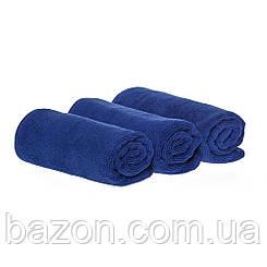 Набір спортивних рушників 35*75см, 300гр/м2 ( 3 шт синій) (md331)