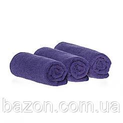 Набір спортивних рушників 35*75см, 300гр/м2 ( 3 шт фіолетовий) (md330)