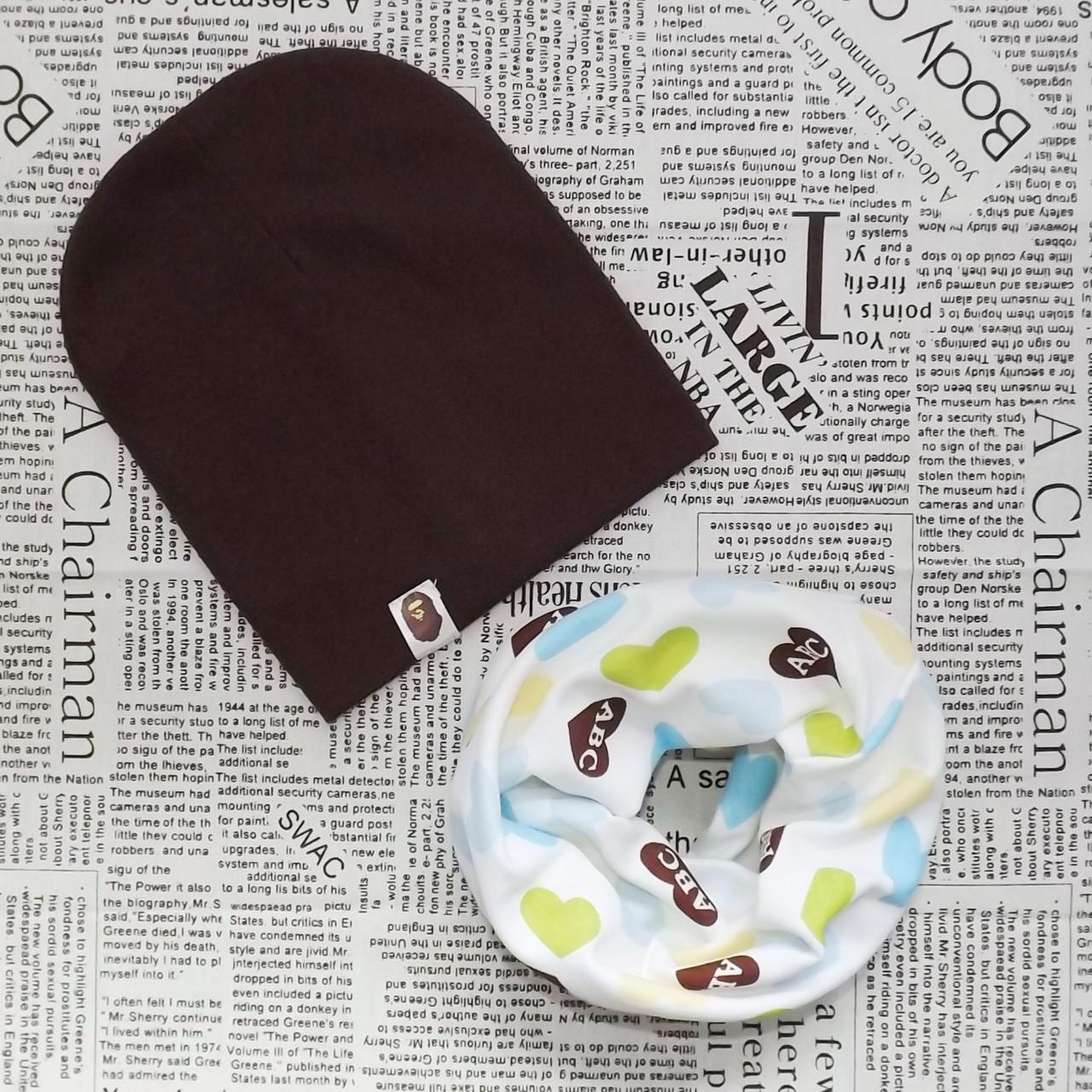 Демисезонный набор: детская шапка Варе и снуд  (07237)