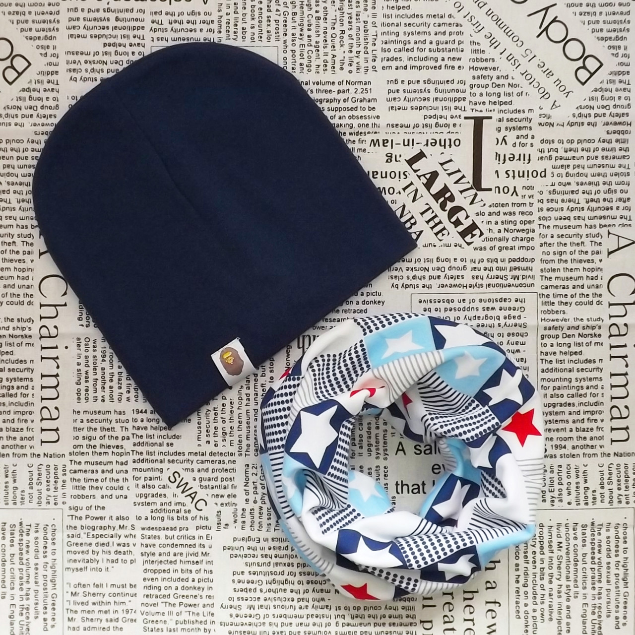 Набор: детская шапка Варе и шарф - кольцо (07242)