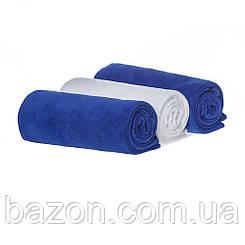 Набір спортивних рушників 45*95, 400гр/м2 (2 шт синій, 1 шт білий) (md303)
