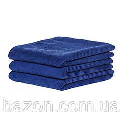 Набір спортивних рушників 45*95см, 300гр/м2 ( 3 шт синій) (md322)