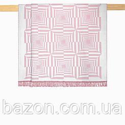 Плед 200х220 см хлопковый рельефный розовый Nyla Arya AR-TR1006342-pink
