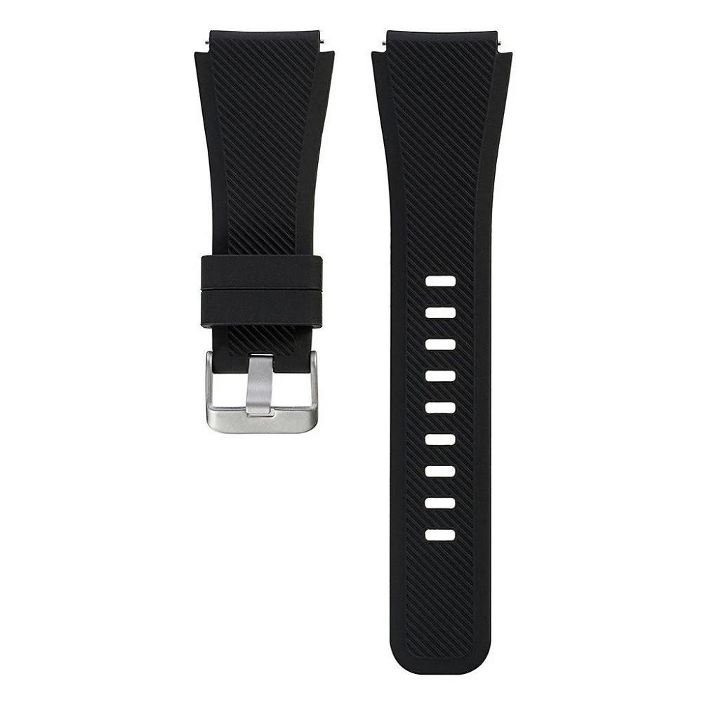 Ремешок для часов Silicone bracelet Universal Type С, 20 мм., Black