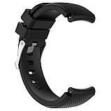Ремешок для часов Silicone bracelet Universal Type С, 20 мм., Black, фото 2