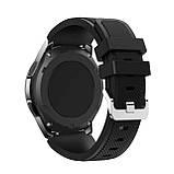 Ремешок для часов Silicone bracelet Universal Type С, 20 мм., Black, фото 4