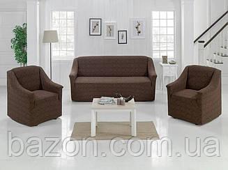Чохол на диван і два крісла Жаккард