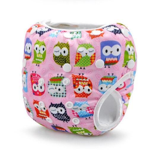 Непромокаемые плавки-подгузники для малышей Совы Розовые (11133)