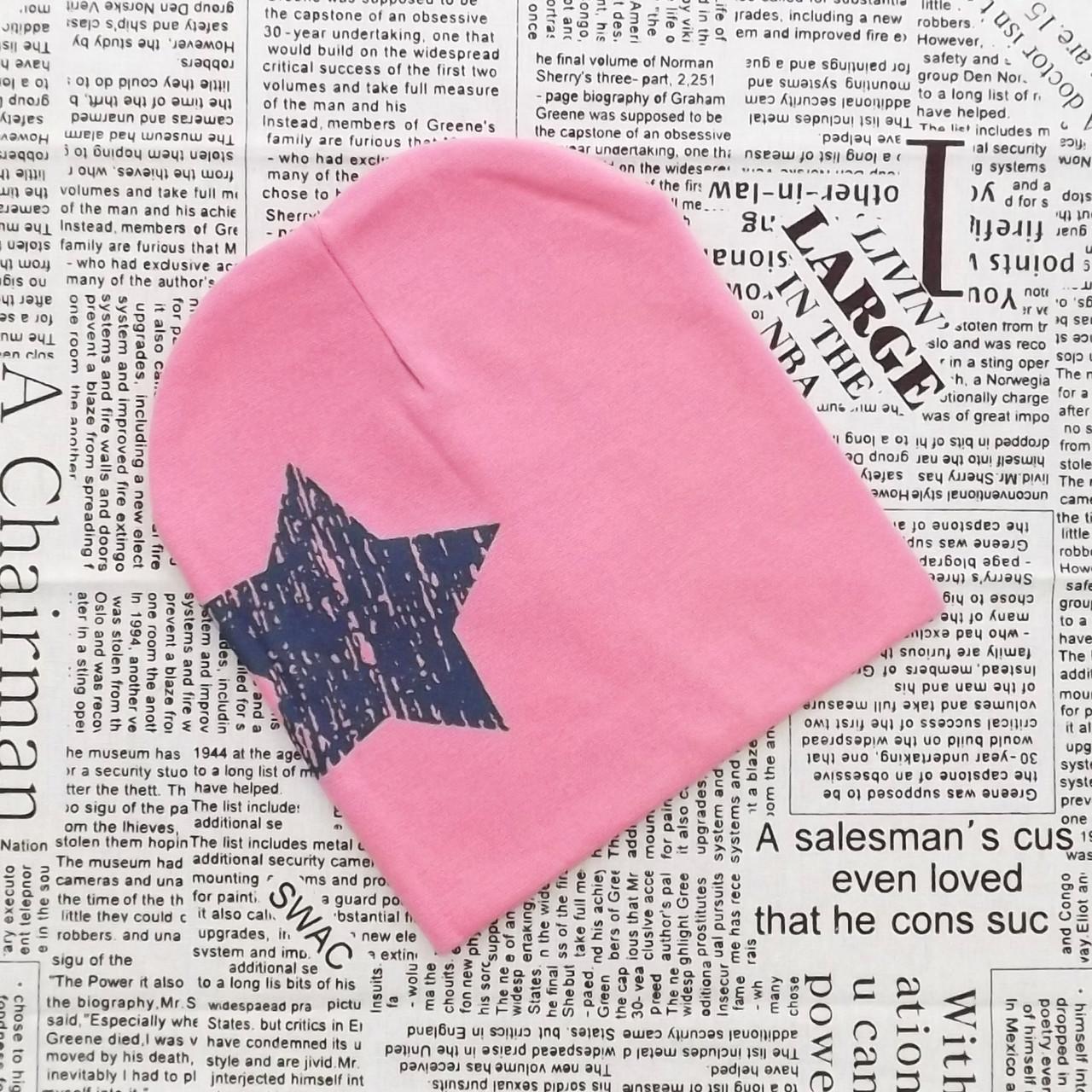 Шапка со звездой хлопковая (07291)