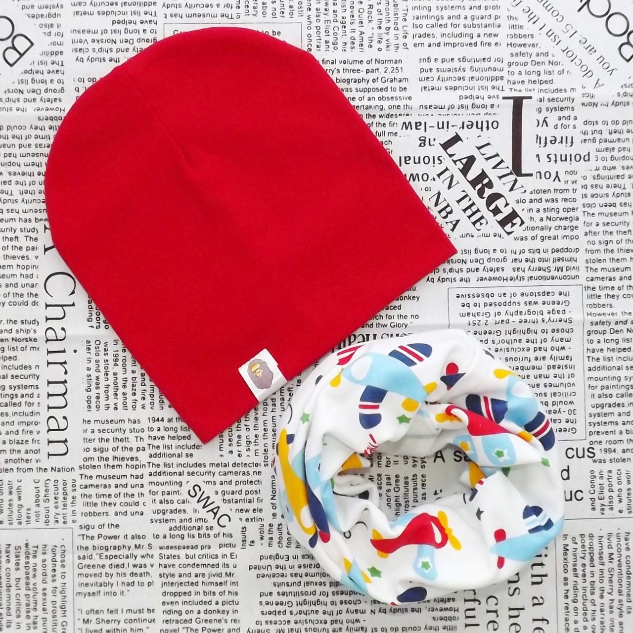Демісезонний набір: дитяча шапка Варі і снуд (07361)
