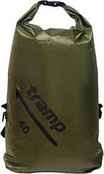 Гермомешок (рюкзак) Diamond Rip-Stop 40л. оливковый Tramp TRA-257-olive