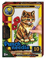 """Набор для творчества Punch Needle ковровая вышивка """"Котик """" PN 01-07"""
