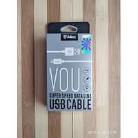Кабель Inkax CK-51 Type C cable 1m White | ОН000374