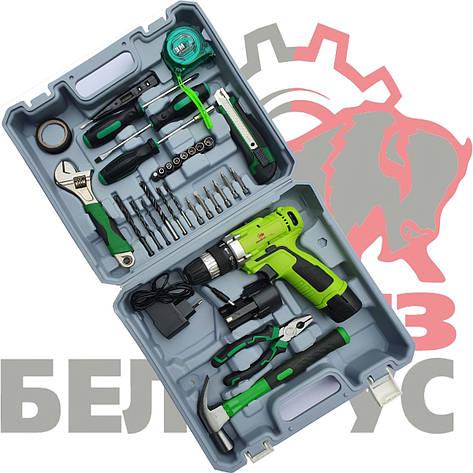 Шуруповерт Белорус ДА 12-2ЛН (набор инструментов), фото 2
