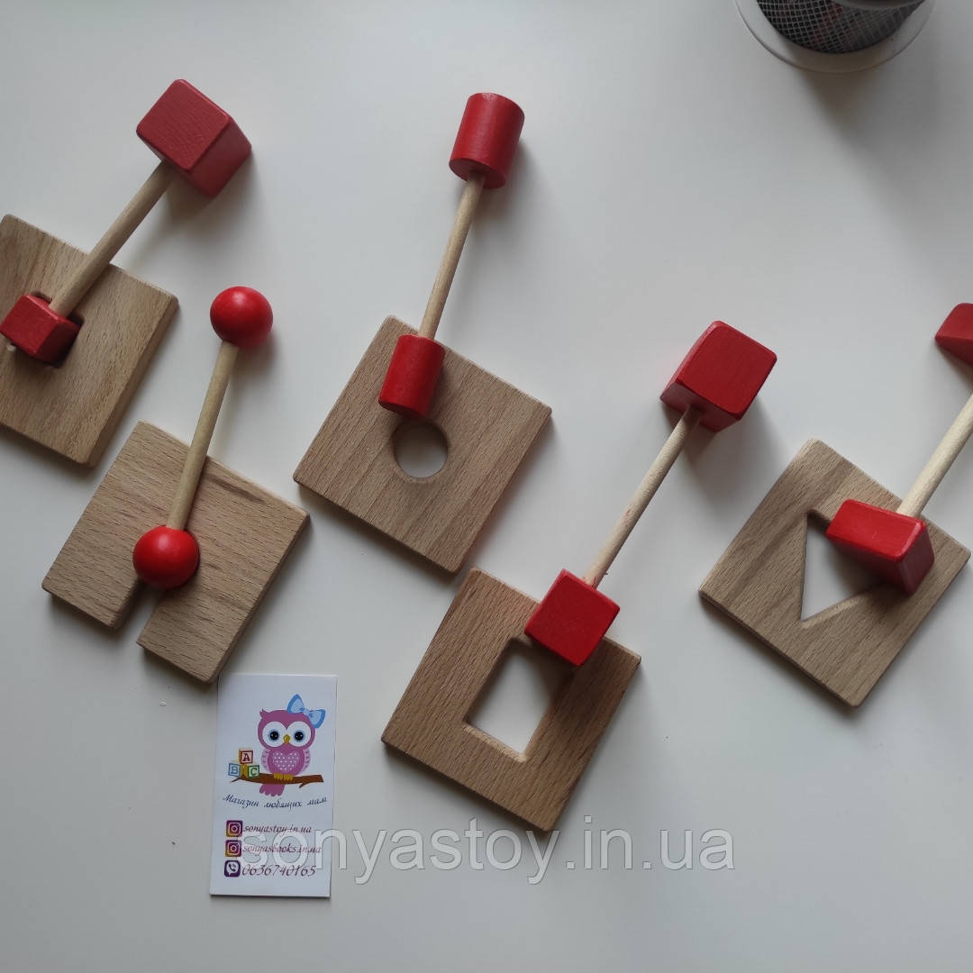 "Игра ""Ключики и замочки"", для изучения геометрических фигур, 1,5+"