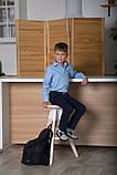 Сорочка для хлопчика з довгим рукавом SmileTime на кнопках, блакитна, фото 5