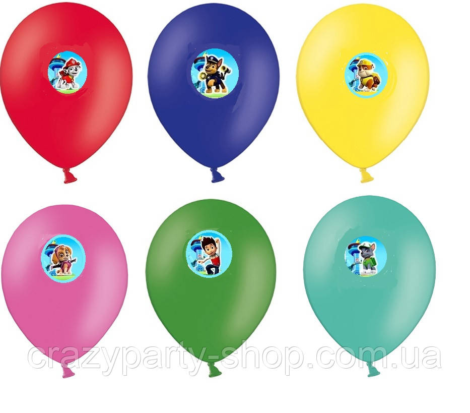 Повітряна кулька Щенячий патруль 10 дюймів