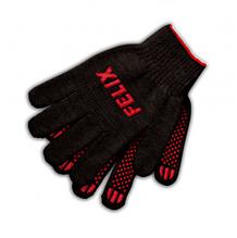 Перчатки хлопковые Felix c пвх-покрытием (черные)