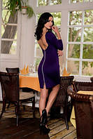 Элегантное платье с открытой спиной сзади на молнии