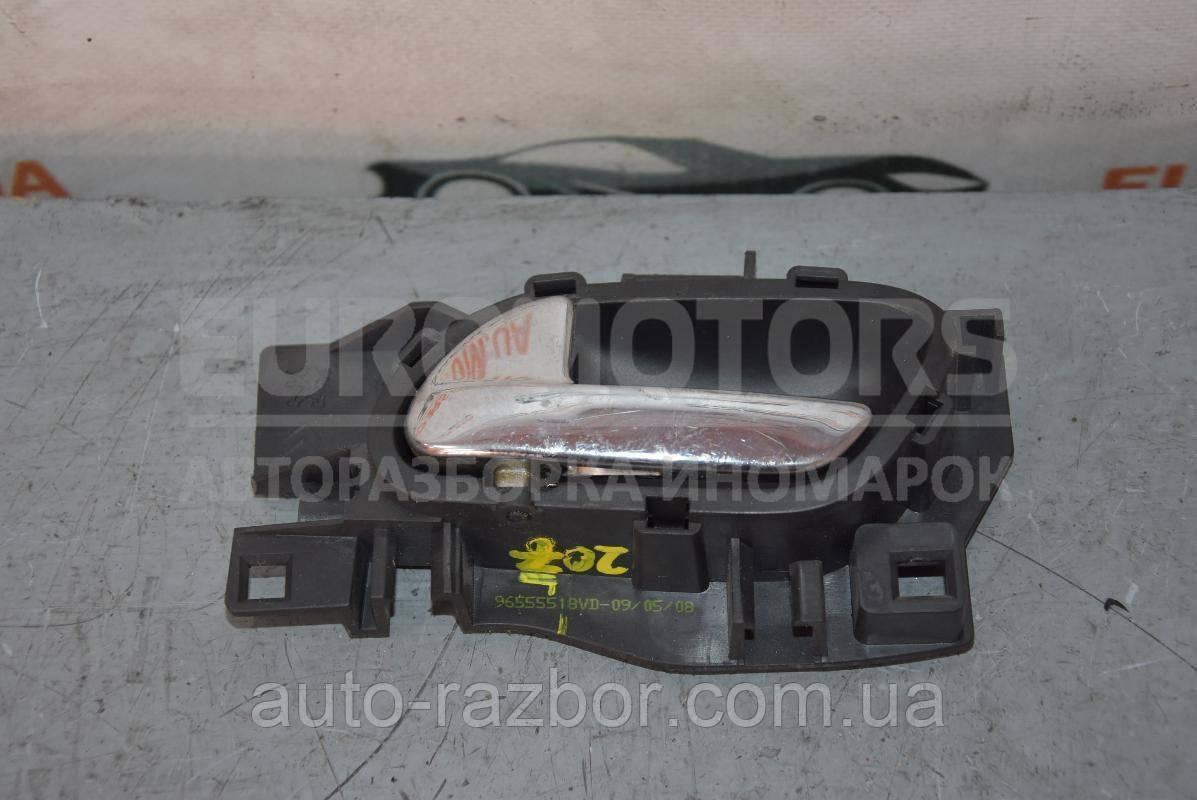 Ручка дверей внутрішня передня ліва хром Peugeot 207 2006-2013 96555518VD