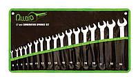 Набор ключей комбинированных, 17 предметов,  6-24 мм. НК-2061-17 Alloid