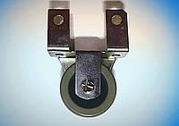 Мебельный ролик с боковым креплением Н-50 мм, резиновый
