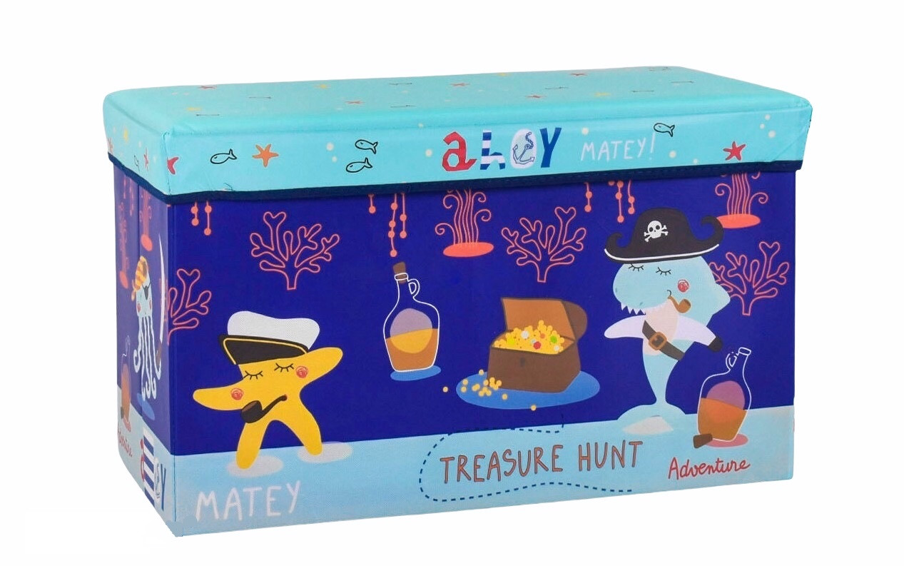 Качественный Пуфик короб для игрушек и хранения вещей