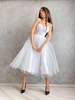 Платье-бюстье с чашечками и пышной юбкой, разные цвета
