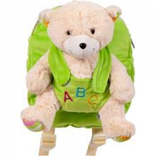 Рюкзак детский Stip Молдова для садика с мягкой игрушкой Зайчиком