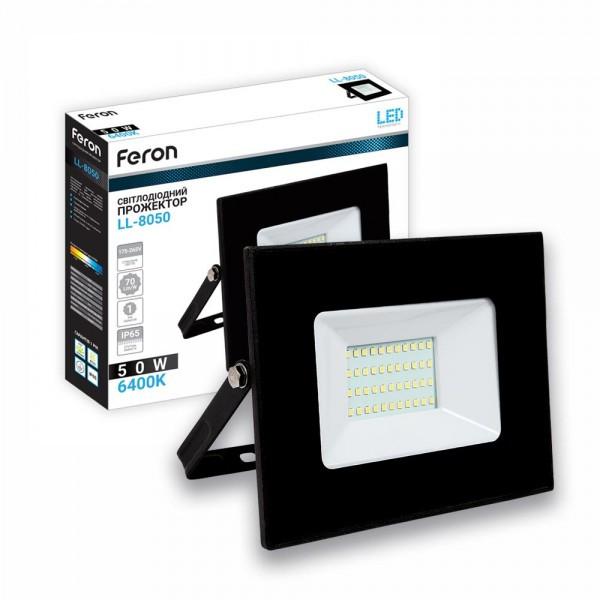 Светодиодный прожектор Feron LL-8050 50W LED 40058