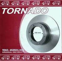 Диск тормозной Газель передний (104 мм) (производство Торнадо)