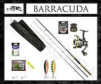 Ecusima + Libao! Набор снастей на рыбалку! Спиннинг + катушка + блёсна и силикон! Нить в комплекте! Щука Окунь