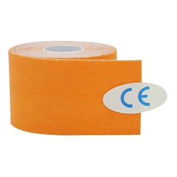 Кинезиологический тейп, кинезио тейп 5cм*5м 🍓 Оранжевый (MR)