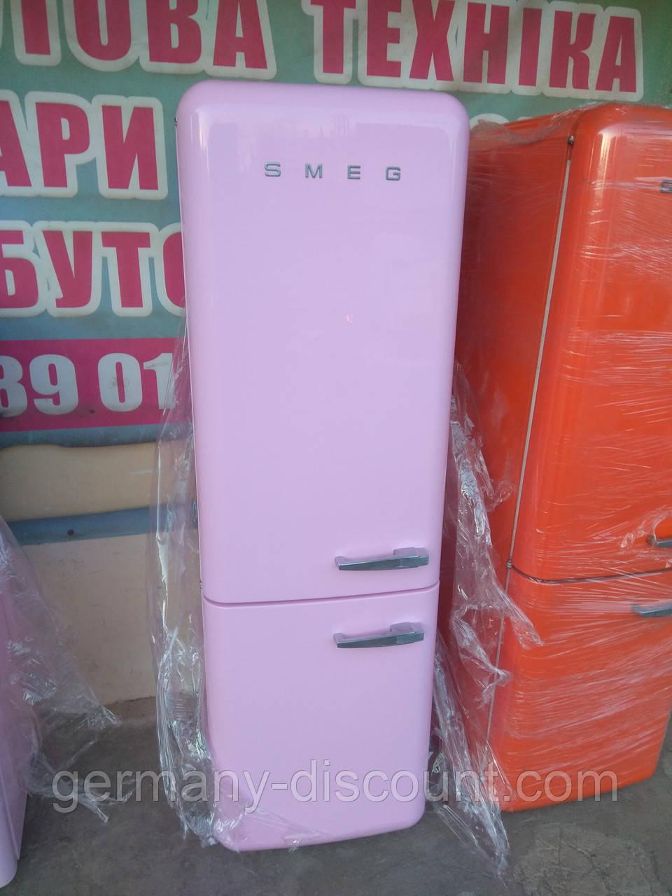 Двокамерний холодильник Smeg FAB32 Рожевий