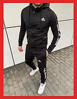Спортивний костюм Adidas 2021 мужской черный