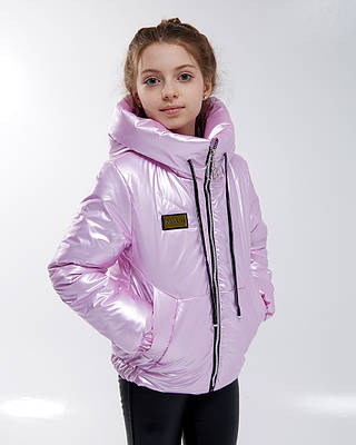 Эклер сиреневая детская подростковая куртка осень весна для девочки
