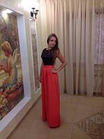 Женское красное длинное платье в пол