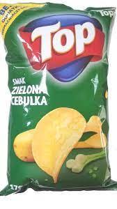 Чіпси TOP Smak Zielona Cebulka 170г