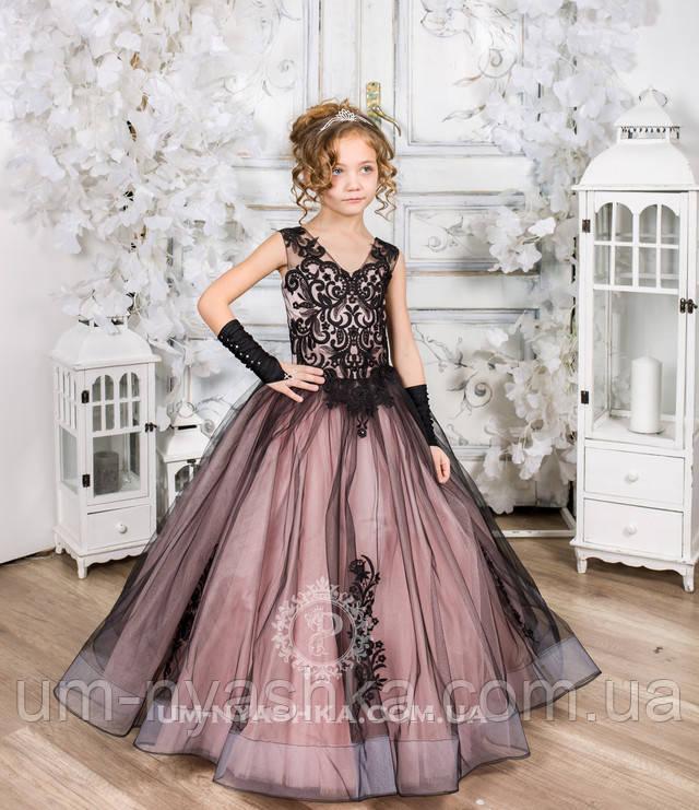 пышные длинные платья для маленькой принцессы